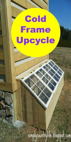Upcycled cold frame