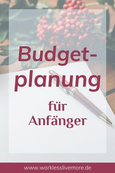 Budget planning is difficult? Learn how to plan, implement and adjust a budget step by step. Without previous knowledge and without frustration! Budget planning for beginners Creating a budget made easy! Planning Budget, Financial Planning, Financial Budget, Money Budget, Budgeting Finances, Budgeting Tips, Best Money Saving Tips, Saving Money, Money Tips