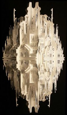 Ingrid Silakis (Amsterdam, 1955) 'The Reflection on Sagrada Familia' Paper Architecture 2008