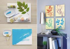 Decor your walls with glamorous piece of flowery art.
