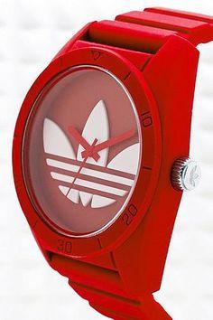 Adidas Originals Large Santiago Watch in Red #watch #adidas #covetme