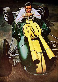 https://flic.kr/p/8ofFJA | Car & Driver | Jim Clark with his Lotus-Ford GP car.