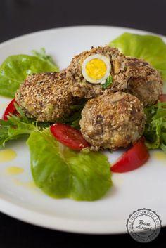 Mäsové fašírky plnené prepeličími vajíčkami • bonvivani.sk