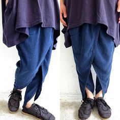 These trousers are so playful thoughtful #layering in #denim #japanese #fashion…