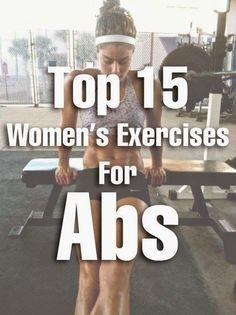 Top 15 Women's Exercises For Abs   Fit Villas