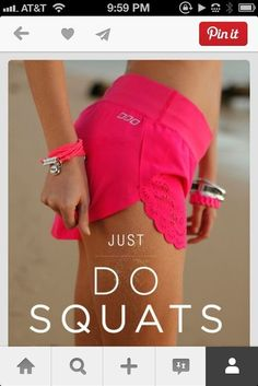 Lorna Jane shorts. Love squats and love these shorts. #lornajane #myactiveyear