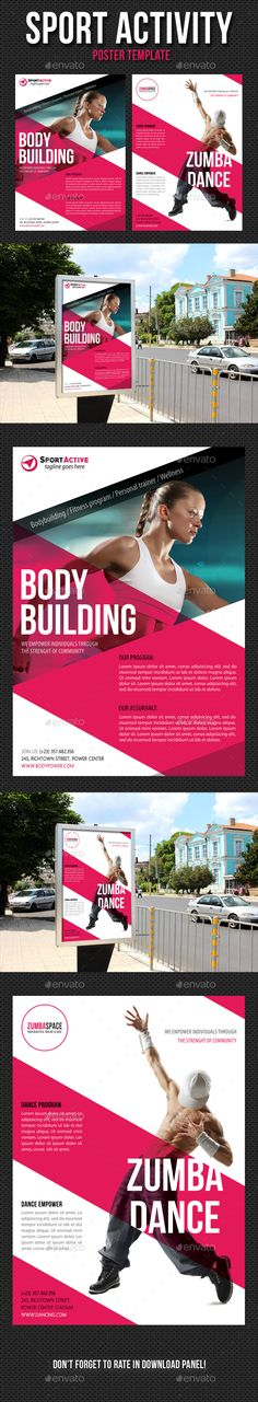 Sport Activity Poster Template PSD. Download here: http://graphicriver.net/item/sport-activity-poster-template-v08/13370822?ref=ksioks