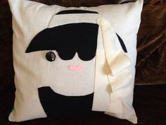 Your place to buy and sell all things handmade Applique Pillows, Felt Applique, Throw Pillow Covers, Throw Pillows, Holly Golightly, Breakfast At Tiffanys, Pillow Forms, Tiffany Blue, Craft Stores