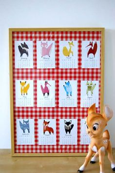 foxy 2013 calendar by Gingiber