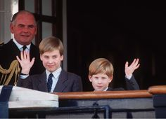 Little princes Harry and William waved in Canada.