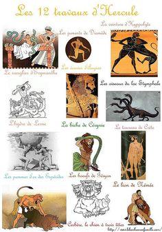La grèce, les 12 travaux d'Hercule...