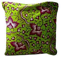 Funda de cojín de pagne (tela africana) 100% algodón.  Medidas 50x50 cm. PVP 10,5 €