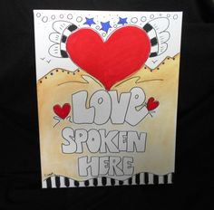 Love Spoken Here by HumanTuneUp on Etsy