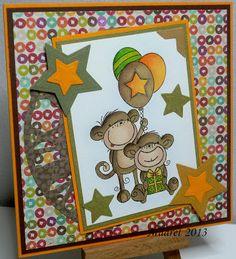 Birthday Monkeys, Stampavie - Rachelle Anne Miller - Birthday Monkeys