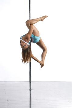 Allegra Variation. Mina Mortezaie wearing PoleFit®. Shop here: www.badkitty.com