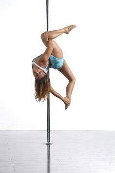 Allegra Variation. Mina Mortezaie wearing PoleFit®. Shop here: www.badkitty.com