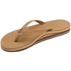 Rainbow Sandals Women's Premier Leather Double Stack Narrow Strap ** New and awesome product awaits you, Read it now  : Flip flops
