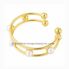 pulsera de perlas acero doradas venta al por mayor
