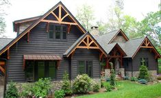 craftsman exterior Looking for exterior home inspiration? Check out these 15 Modern Rustic Homes with Black Exteriors! MountainModernLif… Image Size: 736 x 448 Source Rustic Houses Exterior, Black House Exterior, Craftsman Exterior, Exterior Paint Colors For House, Modern Farmhouse Exterior, Exterior Shutters, Rustic Home Exteriors, Wood Shutters, Home Exterior Design