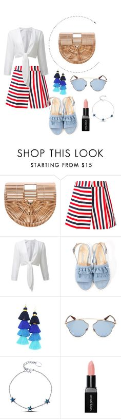 """""""#OOTD: Ft. Bali Bamboo Bag"""" by shopluzzo ❤ liked on Polyvore featuring Thom Browne, Bionda Castana, Christian Dior, Smashbox, ootd, Midsummer and bamboobag"""