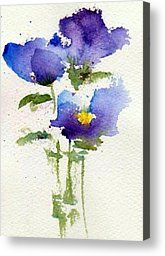 Violets Painting by Anne Duke - Violets Fine Art Prints and Posters for Sale