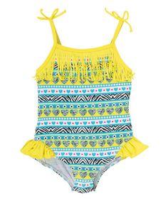 This Acid Fringe One-Piece - Infant & Toddler is perfect! #zulilyfinds