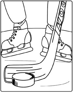 Hockey stick pattern. Use the printable outline for crafts ...