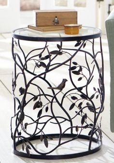 Bird Barrel Table. I love birds and I love that Grandin Road has so many products that feature birds in such a way that they look stylish and can be used in homes and gardens in a classy way.
