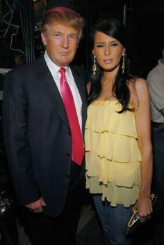 Donald Trump and Melania Knauss during Z100's Zootopia 2004 - Backstage at Madison Square Garden in New York City, New York, United States. (Photo by KMazur/WireImage for Clear Channel Entertainment) via @AOL_Lifestyle Read more: http://www.aol.com/article/lifestyle/2016/11/10/melania-trump-style-/21603454/?a_dgi=aolshare_pinterest#fullscreen
