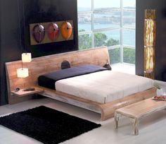 Designerbett MING 200x200 Bambusbetten mit Nachtkonsolen antike Möbel Doppelbett in Möbel & Wohnen, Möbel, Betten & Wasserbetten | eBay