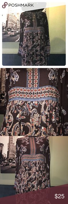 """Knox Rose bohemian dress NWT Knox Rose dress in perfect condition. Keyhole in the back and  36"""" in length. Gorgeous paisley design perfect for concert season! knox rose Dresses"""