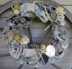 Fabric gray wreath