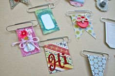 Decorative Clips! All you need are paperclips, scraps, and staples! Make your…