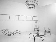 Analogia Project installation for Design Days Dubai 2013. 3D room with 3D sketched furniture
