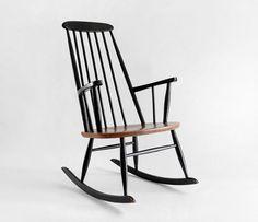 ON HOLD until Feb - Vintage Ilmari Tapiovaara Teak Rocking Chair - Mid Century, Modern, Wood, Danish, Rocker Eames Rocking Chair, Eames Chairs, Bar Chairs, Swivel Chair, Dining Chair, Dining Room, Mission Chair, Adirondack Chairs For Sale, Love Chair