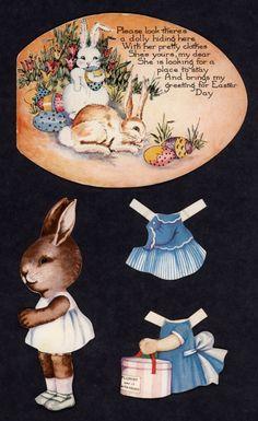 Paper Kids Laughing, Easter Parade, Vintage Easter, Soft Dolls, Doll Face, Vintage Cards, Doll Toys, Easter Bunny, Paper Dolls