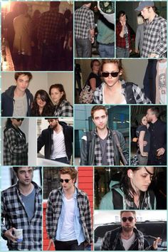 Sharing the grey plaid shirt <3