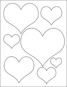 Free templates, certificates and printables at 2020. Hearts, different sizes
