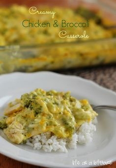 Creamy Chicken and Broccoli Casserole - Life In The Lofthouse