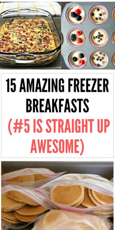 These are the perfect freezer meal breakfasts for busy mornings! Freezer meal breakfast casseroles, burritos, sandwiches, and more! meals 15 Freezer breakfast recipes (that will make a busy morning so much better) Freezer Friendly Meals, Budget Freezer Meals, Healthy Freezer Meals, Freezer Cooking, Frugal Meals, Freezer Recipes, Freezer Desserts, Cooking Tips, Chicken Freezer Meals