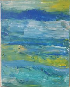 Summer Landscape, Original Painting, Abstract Painting, Abstract Art, Wall Art, Fine Art, Affordable Art, Acrylic Original Painting