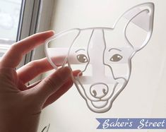 A great Holiday Gift (or Birthday) - a Cookie Cutter Stencil of a Pet! Dog Cookie Cutters, Custom Cookie Cutters, Custom Cookies, Dog Cookies, Cookies Et Biscuits, Dog Lover Gifts, Dog Lovers, Dog Bakery, Street Dogs