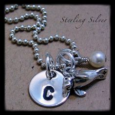 Personalized Necklace  Petite Manatee Charm by MadisonCraftStudio, $30.00