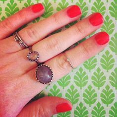 Julie from our head office with Gilded Marvels rings