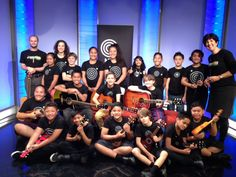 Students from East Tamaki Primary, Edendale School and Kowhai Intermediate, with teachers Maria Winder, Jeremy Hantler and NZMC representative Catherine Walker on the set of 'Good Morning' - TVNZ Months Song, Catherine Walker, Good Morning, Paradise, Students, Teacher, Songs, Concert, School