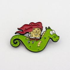 Spongebob & Mystery pin  Spongebob pin by PulpFreePins on Etsy
