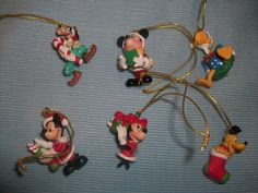 Mickey and friends Christmas mini ornaments