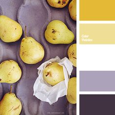 A juicy summer palette, ranging from delicate pear color to deep forest green…