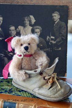 Miniature Mohair Teddy on Etsy ~
