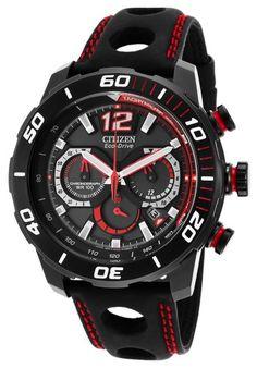 8a681e93724 Citizen Eco-Drive Primo Stingray Mens Black Leather Strap Watch CA4085-08E